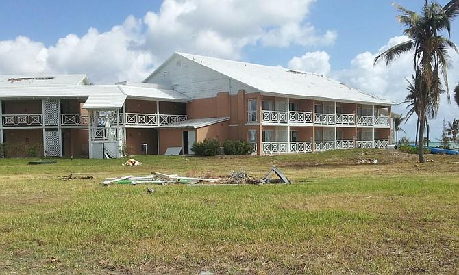 Hurricane Matthew has taken a toll on resort properties in Grand Bahama.