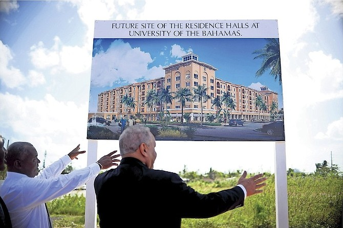The unveiling yesterday of plans by the College of the Bahamas for a 1,000-bed residential hall facility.