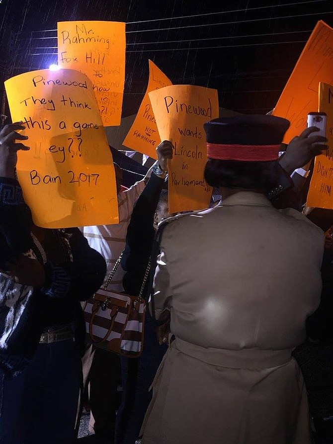 FNMs protest against the choice of candidate for Pinewood
