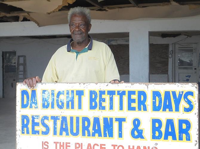 Kenneth Wilson at Da Bight Better Days Restaurant and Bar.