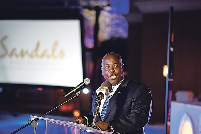 Deputy Prime Minister Philip 'Brave' Davis at the Sandals reopening
