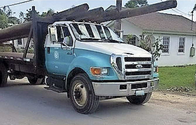 A BPL truck out on the road.