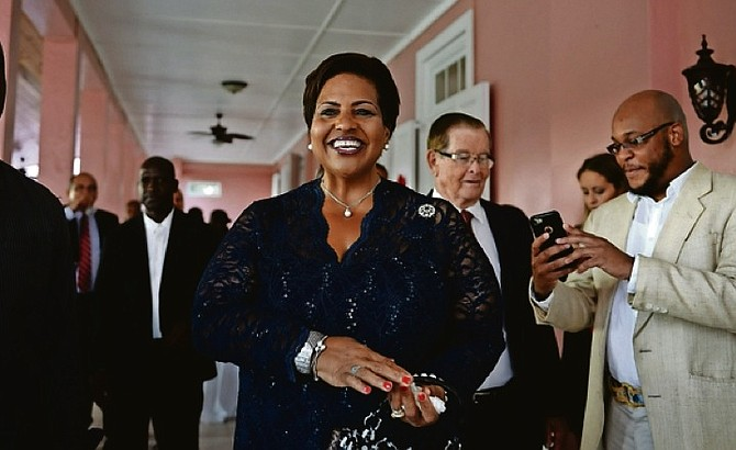 Loretta Butler-Turner accepted her instruments of appointment to become the first woman to serve as leader of the official Opposition on Sunday.