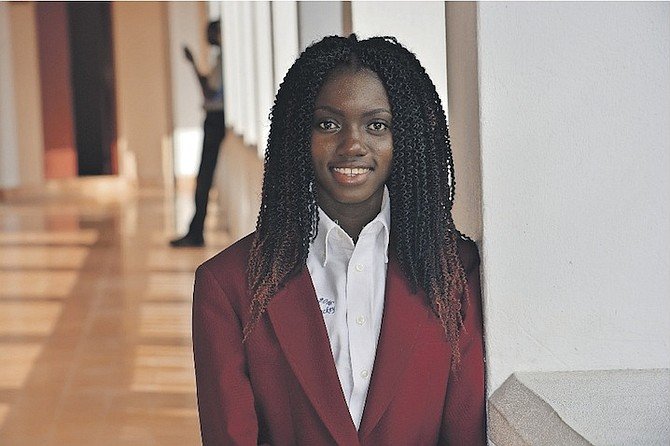 Le'Andra Mackey, an ambassador for the University of The Bahamas President's Scholars Programme, is specialising in anesthesiology.