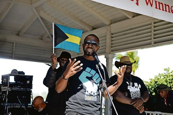 We March Bahamas lead organiser Ranard Henfield.