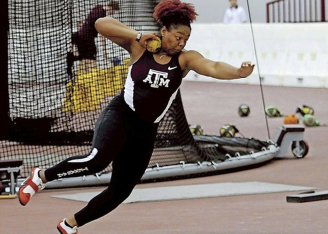 SERENA BROWN is looking forward to soaring to new heights as a collegian in her freshman year at Texas A&M. She turned in two impressive national record-breaking performances in the women's discus at the IAAF World Junior (Under-20) Championships.