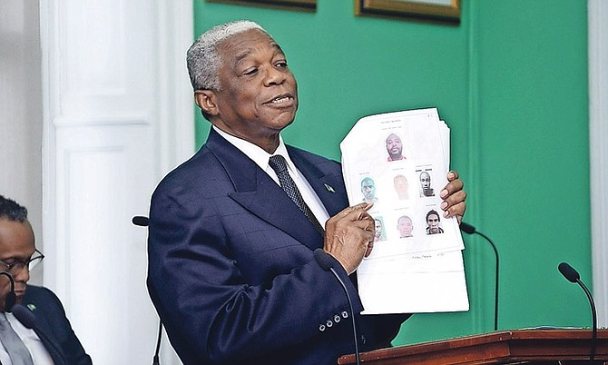National Security Minister Dr Bernard Nottage speaks in the House of Assembly.