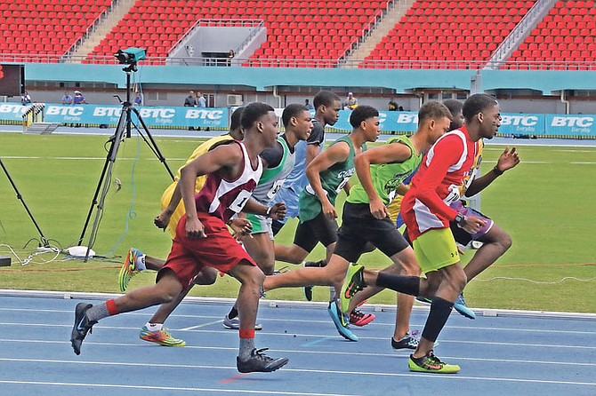ACTION from the BAISS Track and Field Championships.