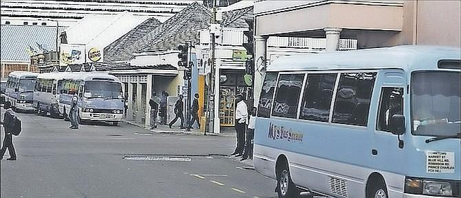 Jitneys on Bay Street.