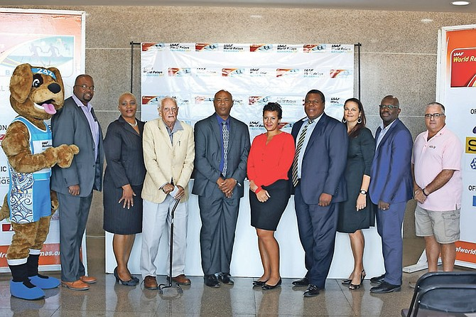 Local Organising Committee (LOC) members for the IAAF World Relays Bahamas, scheduled for April 22-23 at the Thomas A Robinson National Stadium. Photo: Terrel W Carey/Tribune Staff