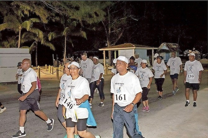 Participants run in last year's inaugural walkathon organised by the Mitchell Ekedede Brain Injury Foundation.