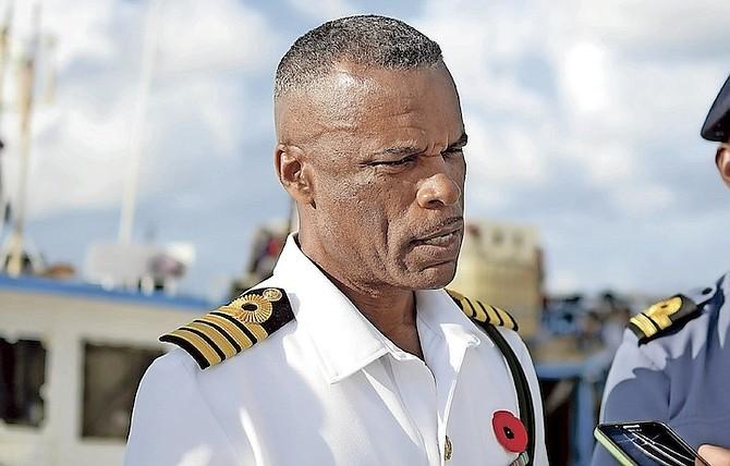 Captain Tellis Bethel, Acting Commander of the Royal Bahamas Defence Force. Photo: Shawn Hanna
