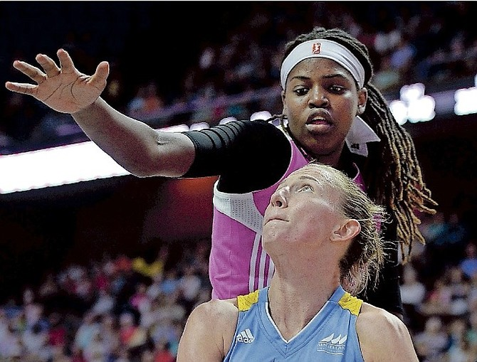 JONQUEL JONES posted 27 points, 25 rebounds and three blocks in an 83-72 win for Woori Bank over the Samsung Life Blue Minx to complete a three-game sweep and claim the 2017 title, the fifth consecutive for the club. (AP)