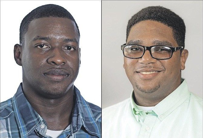 Lyford Cay Scholars Rashad Storr, left, and Joshua Ritchie have learned that it takes more than academic accomplishments to stand out from the crowd.