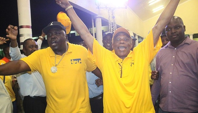 Wisler 'Bobo' Davilma, left, pictured alongside Minister of National Security Dr Bernard Nottage on Tuesday night
