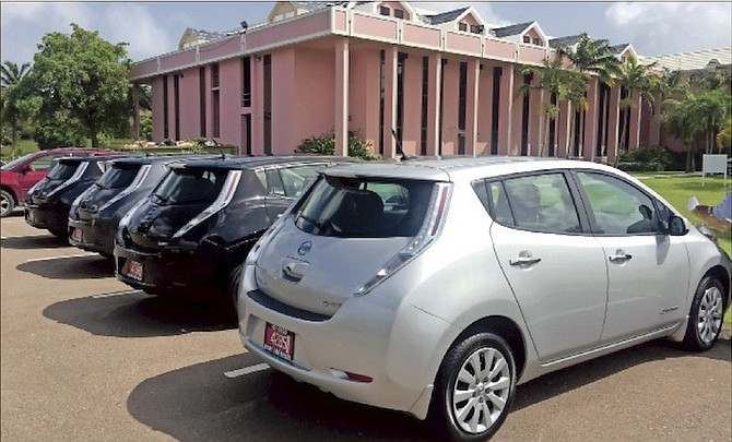 THE Bahamas Cabinet Office, the Department of Inland Revenue, Civil Aviation and Social Services have all used the Nissan LEAFs.