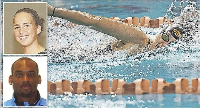 Olympic swimmers Vereance 'Elvis' Burrows, Joanna Evans (action) and Arianna Vanderpool-Wallace claim that they are being 'ignored' over their funding.