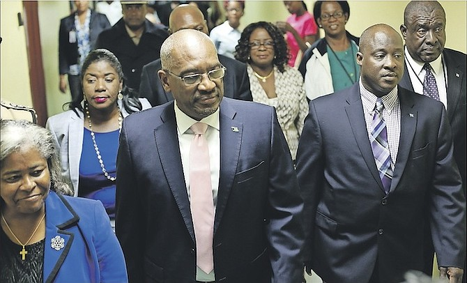 Prime Minister Dr Hubert Minnis touring PMH maternity wards. Photo: Terrel W. Carey/Tribune Staff