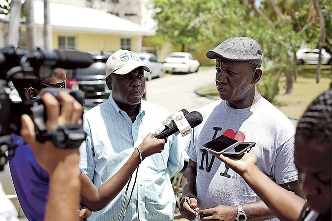 Senior Assistant Commissioner of Police Stephen Dean at the Cable Beach condominium complex on Saturday after the body of a man had been found in a burning apartment. Photo: Terrel W Carey/Tribune Staff