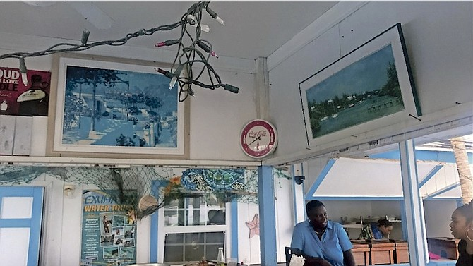 MaryAnn Rolle in her restaurant in Exuma.