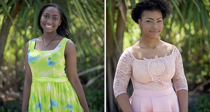 Debutantes of the year Tyeisha Collie, left, and Vanneisha Mackey.