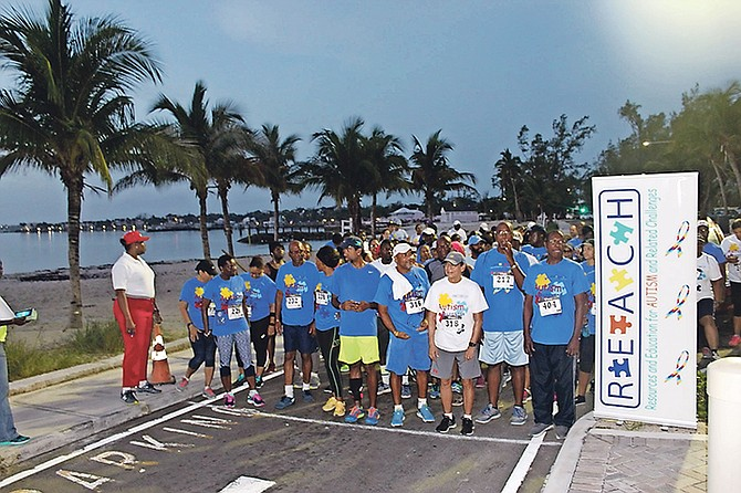 Hundreds assemble at the starting line of the second REACH fun run/walk.