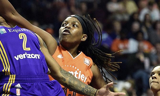 Jonquel Jones is having a breakout season in the WNBA. (AP)