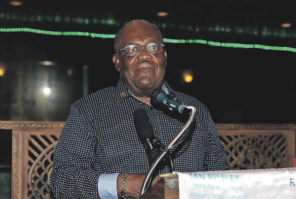 Former Prime Minister Hubert Ingraham, who spoke up on the Commercial Enterprises Bill.