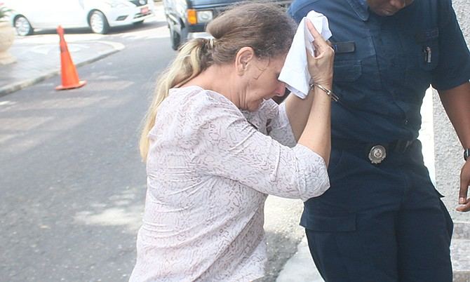 Donna Vasyli outside court last week.