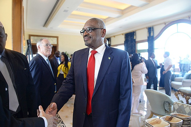 Prime Minister Dr Hubert Minnis in Atlantis on Wednesday.
