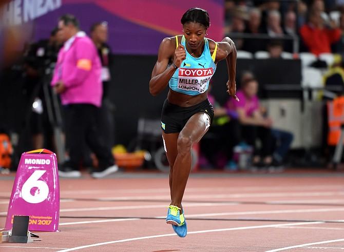 Shaunae Miller-Uibo in her 400m semifinal race. Photo: Kermit Taylor/Bahamas Athletics