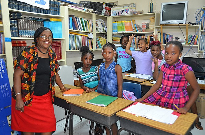 Youngsters pictured at the South Eleuthera Mission's summer programme.