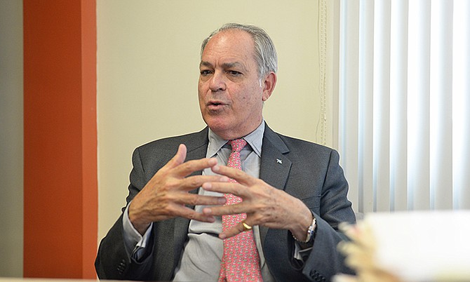 Financial Services, Trade and Industry Minister Brent Symonette.