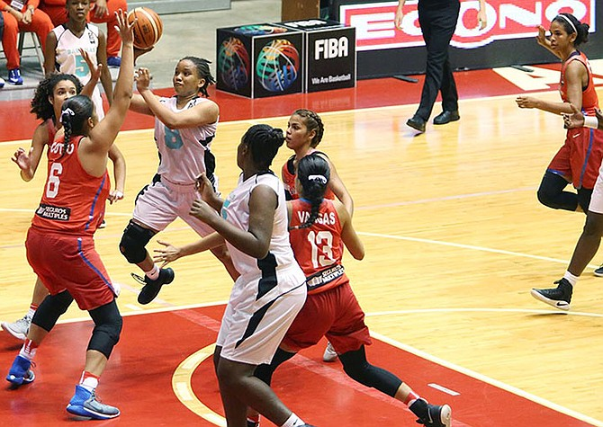 The Bahamas in action against Puerto Rico.