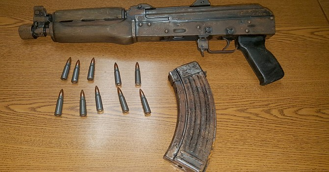 The weapon seized by police on Saturday.