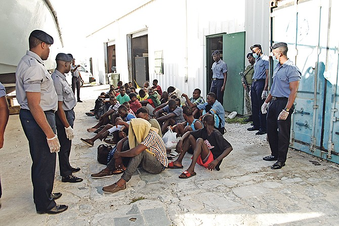 53 haitian migrants detained the tribune