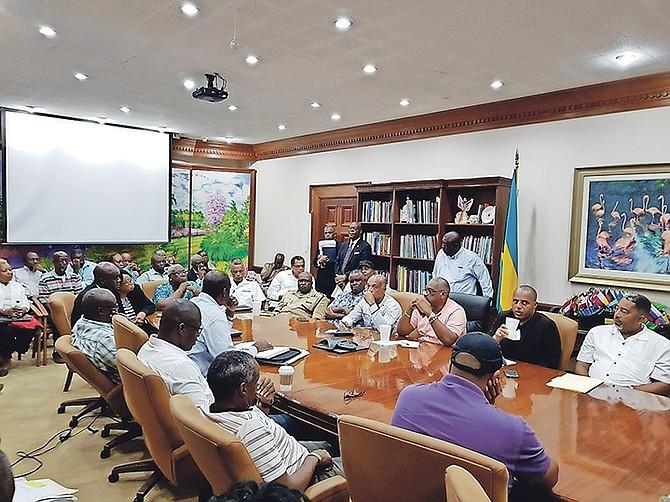 A Cabinet meeting held on Sunday night to discuss Hurricane Irma. Photo: BIS