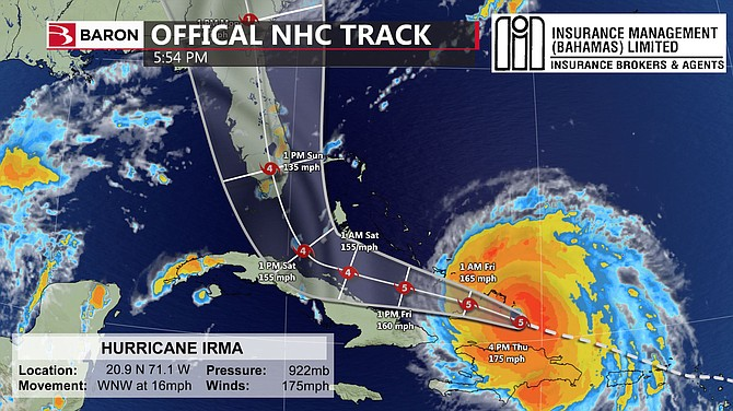 Image result for Irma track map from sept 7 2017