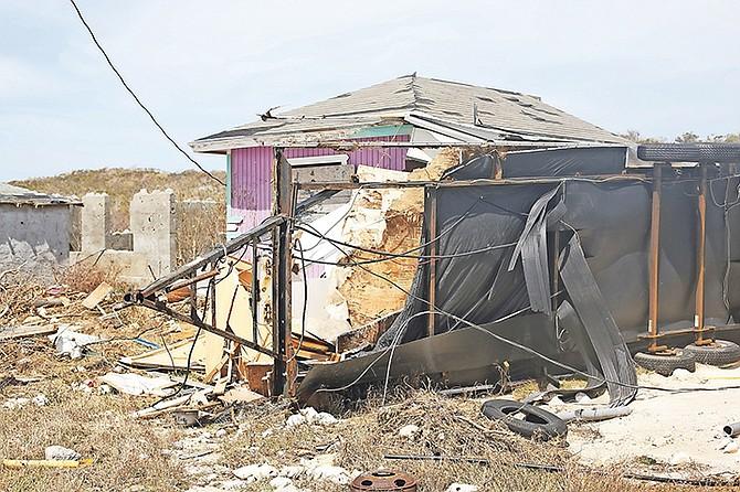 Salina Point, Acklins after Hurricane Irma. Photo: Terrel W Carey/Tribune staff