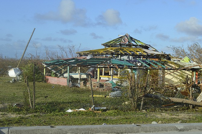 Damage left after Hurricane Irma hit Barbuda. (AP)