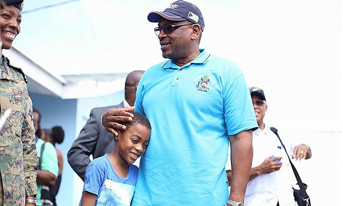 Prime Minister Dr Hubert Minnis on a trip to Inagua on Wednesday.