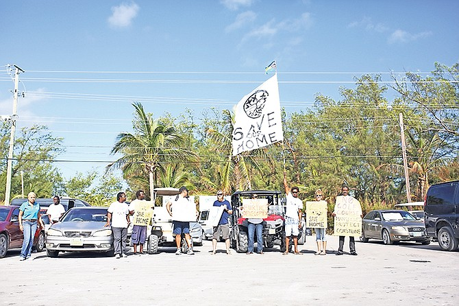Residents express their concern over styrofoam in the ocean in Bimini.