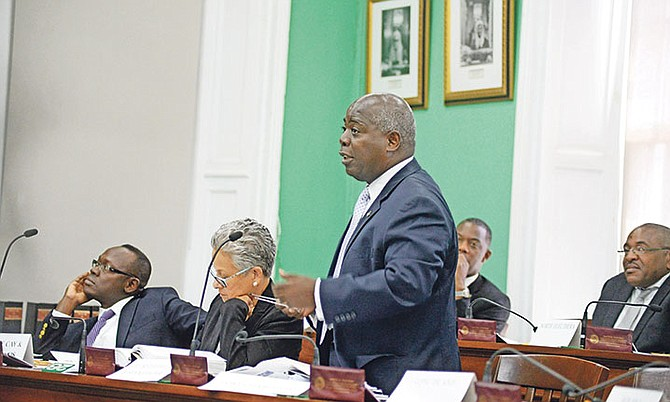 Philip Davis, MP for Cat Island, Rum Cay and San Salvador speaking in the House of Assembly. Photo: Shawn Hanna/Tribune Staff