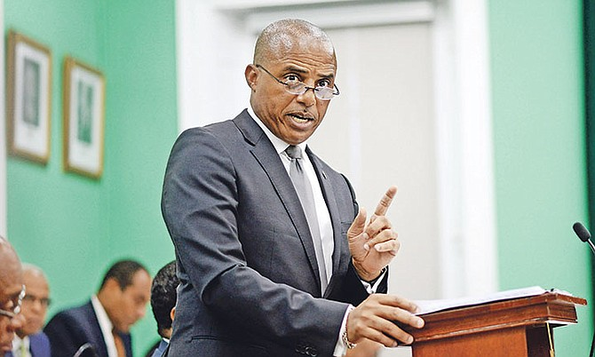 Minister of National Security Marvin Dames in the House of Assembly. Photo: Shawn Hanna/Tribune Staff