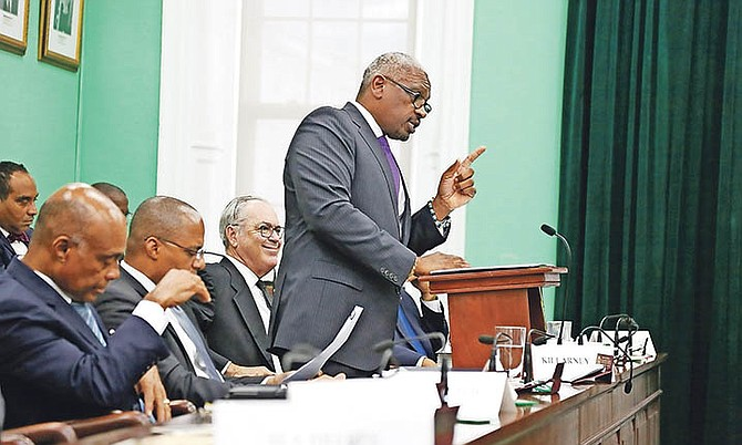 Prime Minister Dr Hubert Minnis in the House of Assembly.