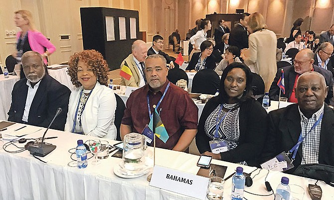 Bahamas executives (l-r) Ted Miller, Daphne McKinney, Terran Rodgers, Oria Wood-Knowles and Sam Rodgers.