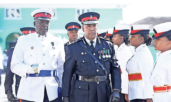 Former Commissioner of Police Ellison Greenslade at the handing over ceremony.