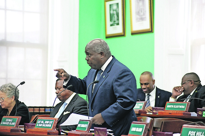 PLP Leader Philip 'Brave' Davis in the House of Assembly.