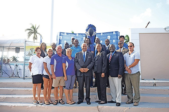 The University Of The Bahamas held a reopening ceremony for their Pool Facility yesterday in collaboration with the Let's Swim Bahamas Programme. Photos Shawn Hanna