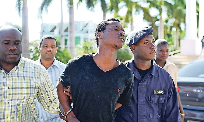 Byron Demeritte, 24, of Garden View Estates, was arraigned at Magistrate's Court yesterday on a charge of murder.